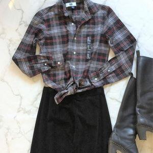 NWT Gap Button Down Plaid Flannel Shirt